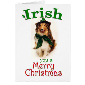 Irish Sheltie Card