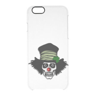 Irish Skeleton Clown Clear iPhone 6/6S Case