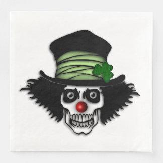 Irish Skeleton Clown Disposable Serviette