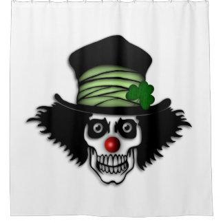 Irish Skeleton Clown Shower Curtain