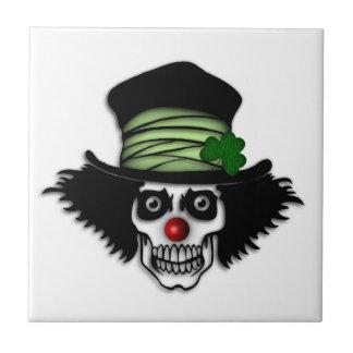 Irish Skeleton Clown Small Square Tile