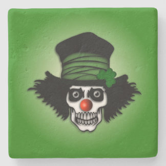 Irish Skeleton Clown Stone Coaster