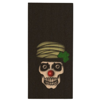 Irish Skeleton Clown Wood USB 2.0 Flash Drive