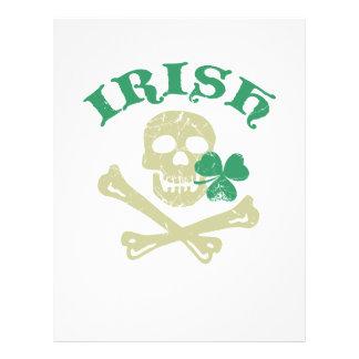 Irish skull 21.5 cm x 28 cm flyer