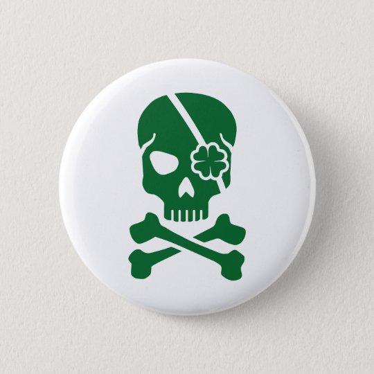 Irish skull 6 cm round badge