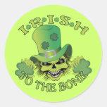 Irish Skull Classic Round Sticker