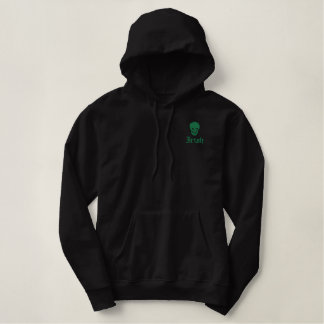 Irish  Skull Embroidered Hoodie