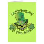 Irish Skull Greeting Card