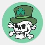 Irish Skull Round Sticker