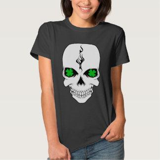 Irish Skull Smokin' Shamrocks T-Shirt
