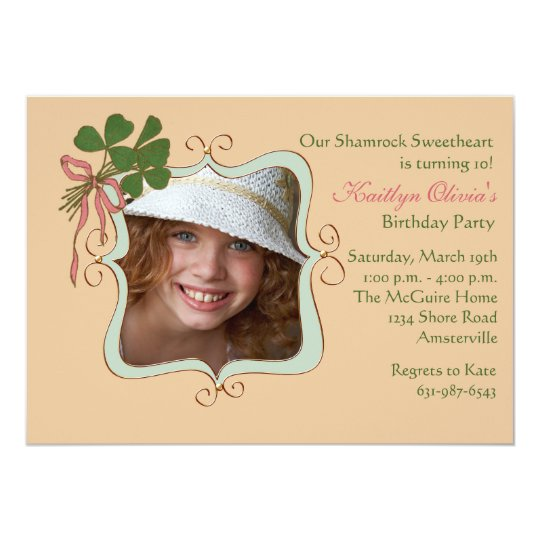 Irish Smile - Photo Birthday Party Invitation