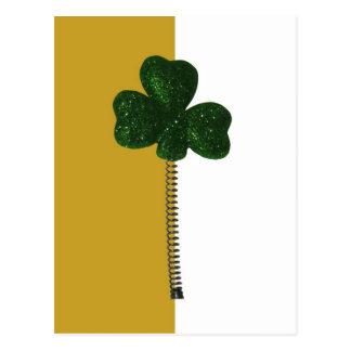 Irish spring shamrock postcard