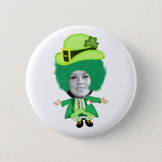 Irish St Patricks Day Jig, Photo Framed Head 6 Cm Round Badge