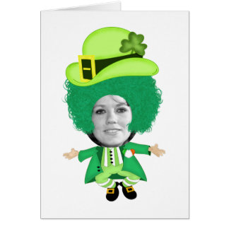 Irish St Patricks Day Jig, Photo Framed Head Greeting Card