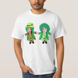 Irish St Patricks Day Jig, Photo Framed Heads T-Shirt