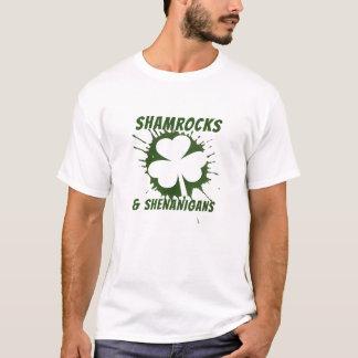 Irish St Patricks Day Shamrocks and Shenanigans T-Shirt
