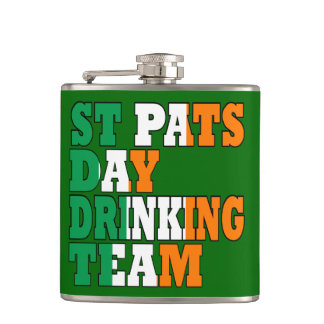 Irish St Pats drinking team Hip Flask