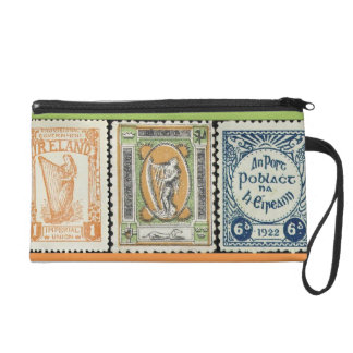 Irish Stamp Bag Wristlet Clutch