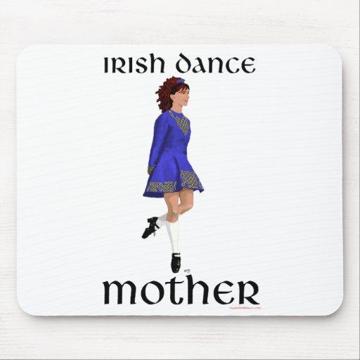 Irish Step Dance Mother - Blue Hard Shoe Mouse Pads
