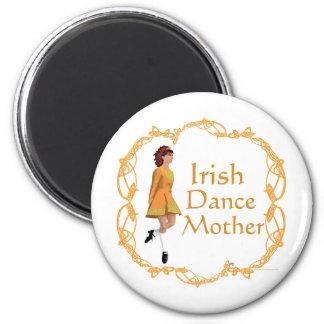 Irish Step Dance Mother - Gold 6 Cm Round Magnet