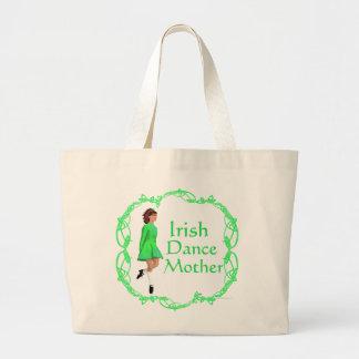 Irish Step Dance Mother - Green Jumbo Tote Bag