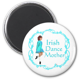 Irish Step Dance Mother - Turquoise 6 Cm Round Magnet