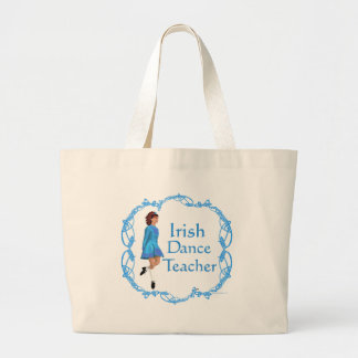 Irish Step Dance Teacher - Blue Jumbo Tote Bag
