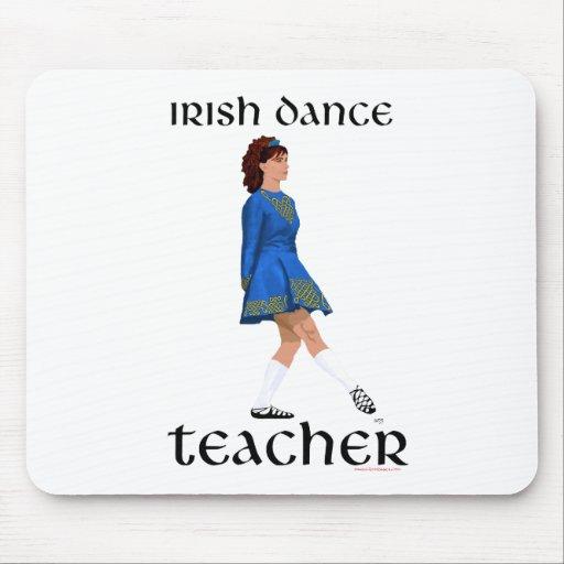 Irish Step Dance Teacher - Blue Soft Shoe Mouse Pads