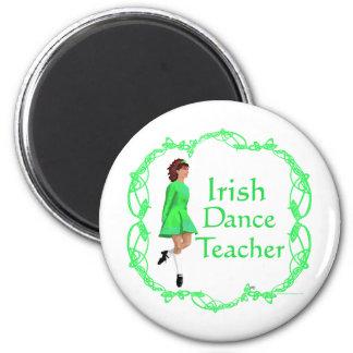 Irish Step Dance Teacher - Green 6 Cm Round Magnet
