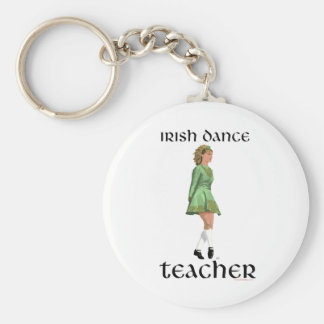 Irish Step Dance Teacher - Green Basic Round Button Key Ring