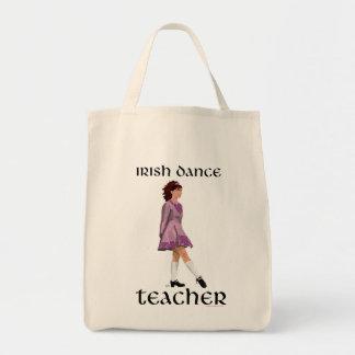Irish Step Dance Teacher - Pink Grocery Tote Bag