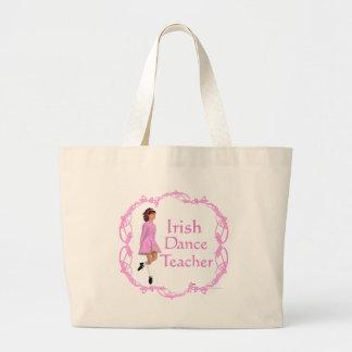 Irish Step Dance Teacher - Pink Jumbo Tote Bag