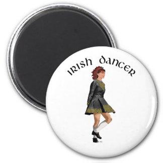 Irish Step Dancer - Black Dress Red Hair Magnets