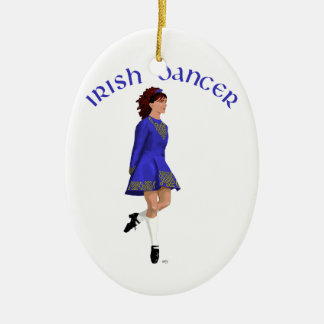 Irish Step Dancer - Blue Christmas Ornament
