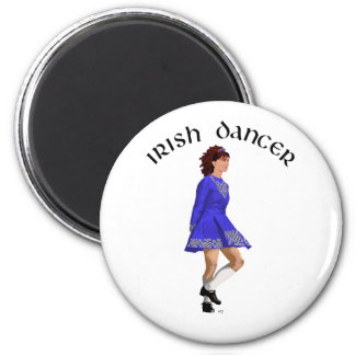 Irish Step Dancer - Blue Dress Magnet