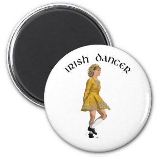 Irish Step Dancer - Gold Dress Fridge Magnets