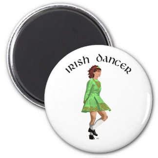 Irish Step Dancer in Green Dress Fridge Magnets
