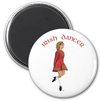 Irish Step Dancer in Red Magnets