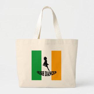 Irish Step Dancer Large Tote Bag