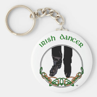 Irish Step Dancer - Male Basic Round Button Key Ring