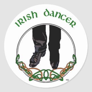 Irish Step Dancer - Male Round Sticker