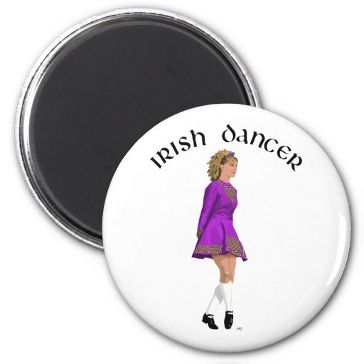 Irish Step Dancer - Purple Magnets