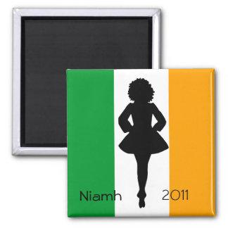 Irish Step Dancer Square Magnet