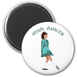 Irish Step Dancer - Teal Refrigerator Magnet