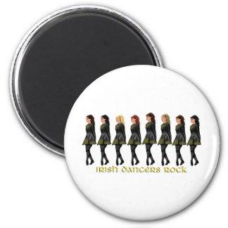 Irish Step Dancers Rock Magnet