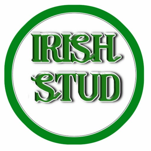 Irish Stud Text Image Cut Out