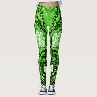 Irish Sugar Skull Leggings