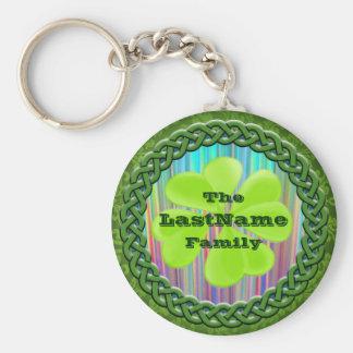 Irish Surname Reunion Add Your Name! St. Pat's Basic Round Button Key Ring