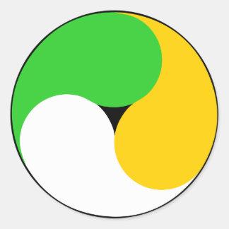 Irish Swirl Round Sticker