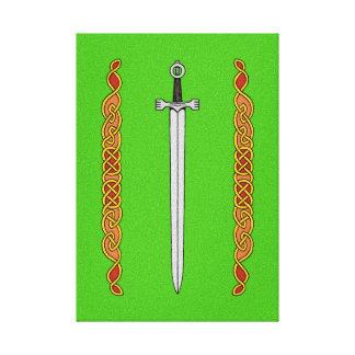 Irish Sword and Knotwork Canvas Print